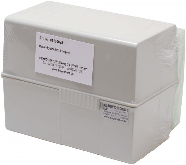 Recall-System - Stück Recall-Box A6, 100 Recall-Karteikarten grün, 100 Erinn ... von Beycodent