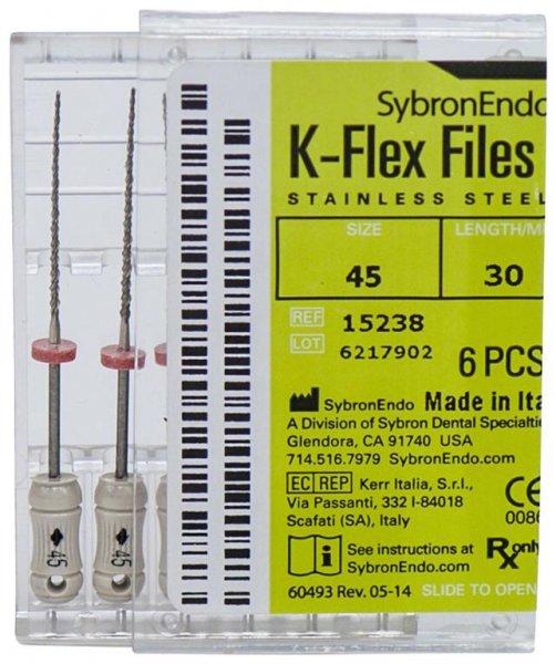 K-Flex Files - Packung 6 Feilen 30 mm ISO 045 von SybronEndo