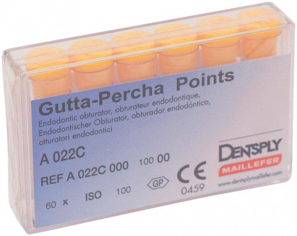 Guttapercha-Spitzen rosa - Packung 60 Stück rosa, Taper.02 ISO 100 von Dentsply Sirona
