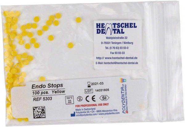 Endo Stops - Packung 100 Stück gelb von Hentschel-Dental