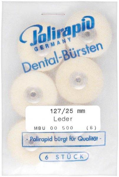 Lederscheiben - Packung 6 Bürsten Ø 25 mm, unmontiert von Polirapid