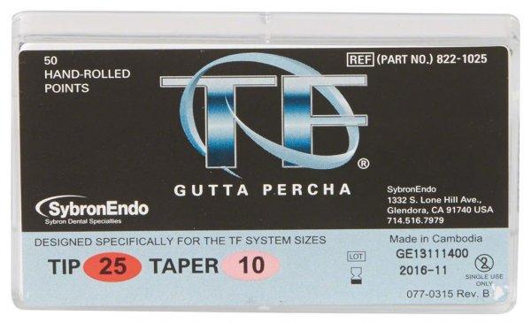 TF™ Guttapercha - Packung 100 Stück Taper.10, ISO 025 von Kerr