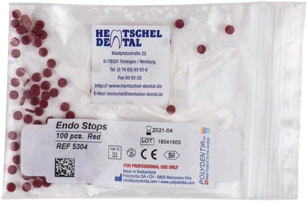 Endo Stops - Packung 100 Stück rot von Hentschel-Dental
