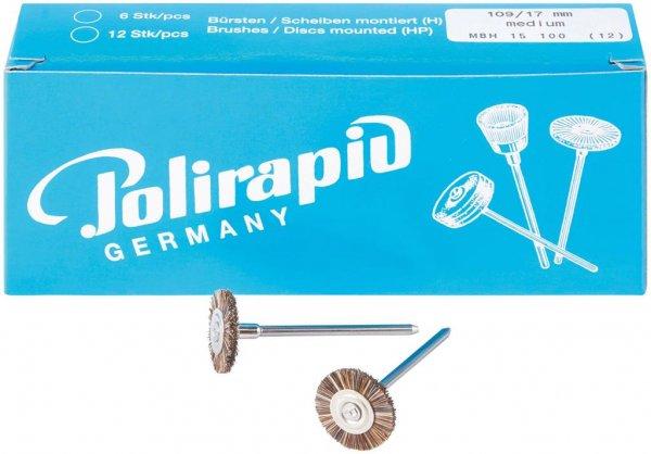 Miniaturbürste - Packung 12 Bürsten, Roßhaar, Ø 17 mm von Polirapid
