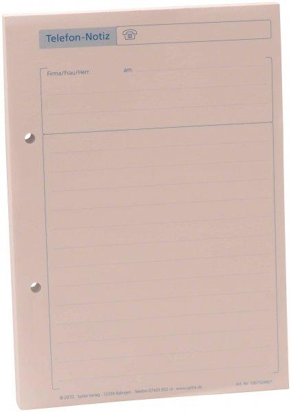 Telefon-Notiz - Block 100 Blatt von Spitta Verlag