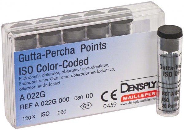 Gutta-Percha Spitzen - Packung 120 Stück Taper.02 ISO 080 von Dentsply Sirona