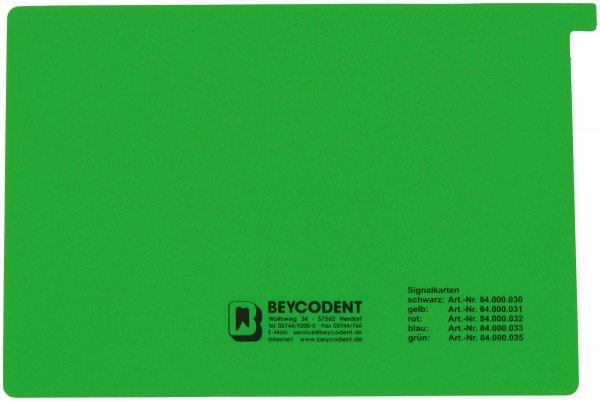 Signalkarten A5 - Packung 50 Karten grün von Beycodent