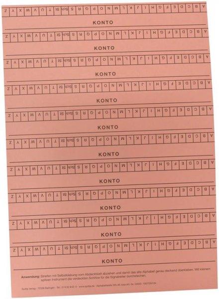 Alphabetleisten DIN A5 - Packung 10 Leisten rosa von Spitta Verlag
