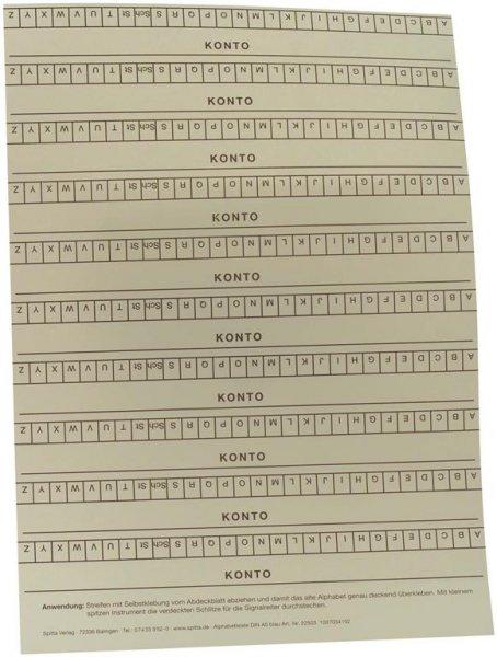 Alphabetleisten DIN A5 - Packung 10 Leisten blau von Spitta Verlag