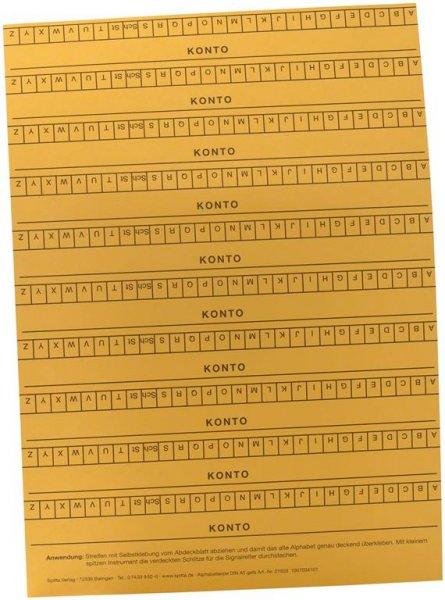 Alphabetleisten DIN A5 - Packung 10 Leisten gelb von Spitta Verlag
