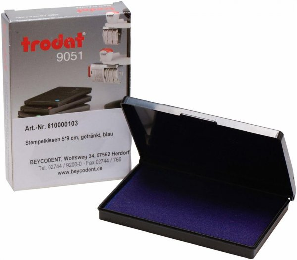 Stempelkissen - Stück Stempelkissen blau 50 x 90 mm von Beycodent
