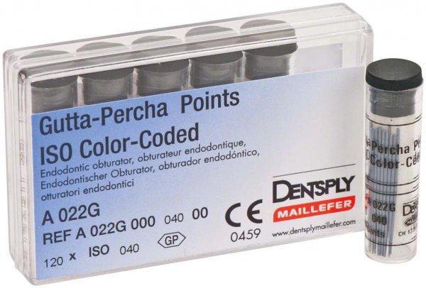 Gutta-Percha Spitzen - Packung 120 Stück Taper.02 ISO 040 von Dentsply Sirona