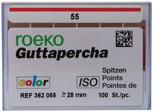 Guttapercha ISO color - Packung 100 Stück ISO 055 von COLTENE