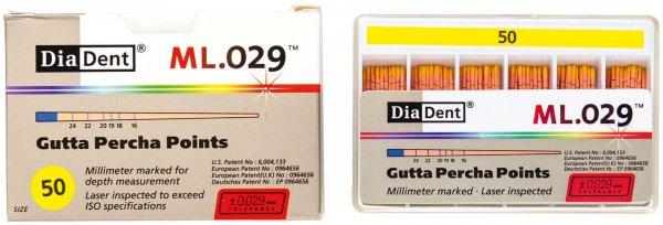 DiaDent® ML.029™ Gutta Percha Points - Packung 120 Stück ISO 050 von Diadent
