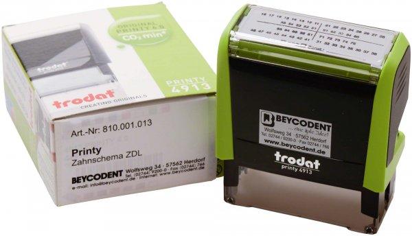 Zahnschema ZDL - Stück Printy Stempelautomat grün von Beycodent