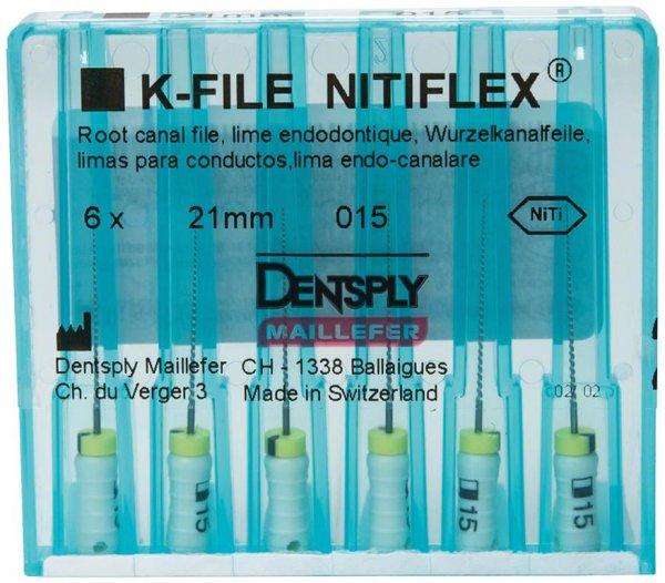 File NiTiflex - Packung 6 Stück 21 mm ISO 015 von Dentsply Sirona