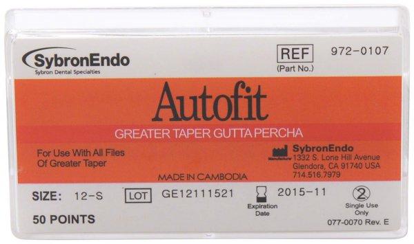 Autofit Guttapercha - Packung 50 Stück 98 mm, Taper.12 von SybronEndo
