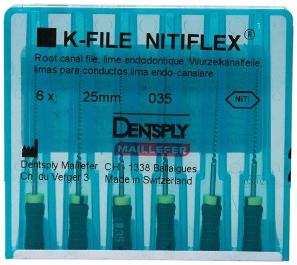 File NiTiflex - Packung 6 Stück 25 mm ISO 035 von Dentsply Sirona
