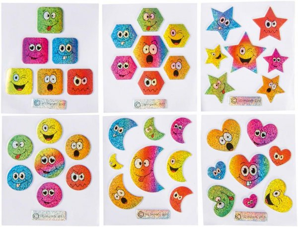 Aufkleber - Packung 100 Aufkleber Emotions von MirusMix