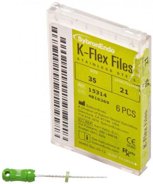 K-Flex Files - Packung 6 Feilen 21 mm ISO 035 von SybronEndo
