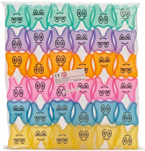 Zahnbehälter - Packung 36 Zahnbehälter Happy Smile, Ø 4,3 cm von MirusMix