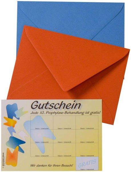 Prophylaxe-Gutschein - Packung 20 Karten von Beycodent