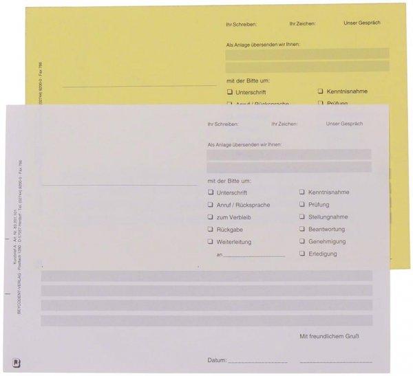 Kurzbrief - Packung 100 Blatt 2-fach von Beycodent