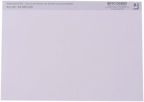 Adressfeld 620 - Packung 100 x 6 Etiketten 105 x 48 mm von Beycodent