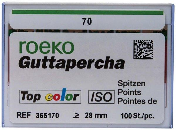 Guttapercha Top color - Packung 100 Stück ISO 070 von Roeko