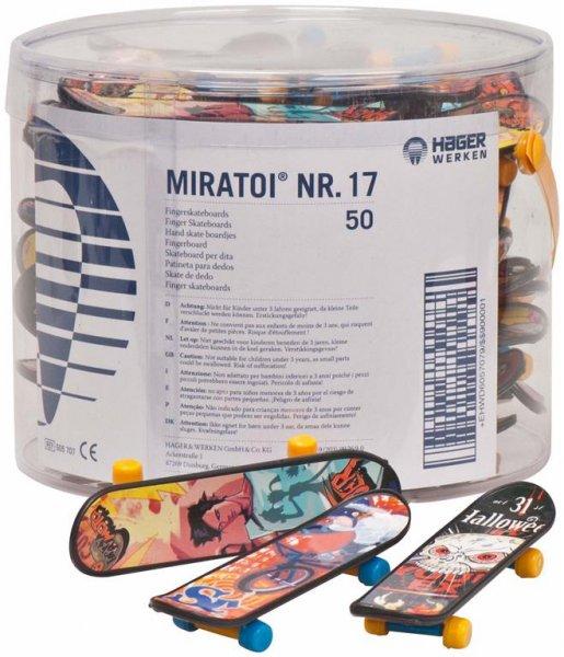Miratoi® Nr. 17 Fingerskateboards - Packung 50 Fingerskateboards, Nr. 17 von Hager & Werken