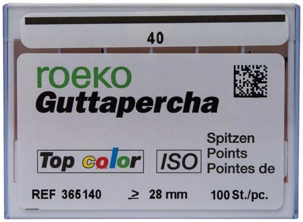 Guttapercha Top color - Packung 100 Stück ISO 040 von Roeko