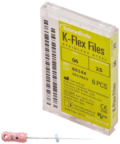 K-Flex Files - Packung 6 Feilen 25 mm ISO 006 von SybronEndo