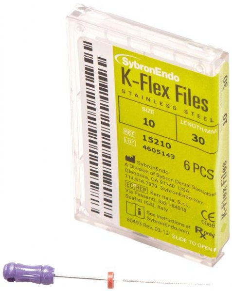 K-Flex Files - Packung 6 Feilen 30 mm ISO 010 von SybronEndo