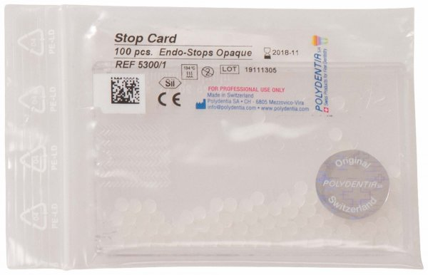Endo Stops - Spender 100 Stück opak von Polydentia SA