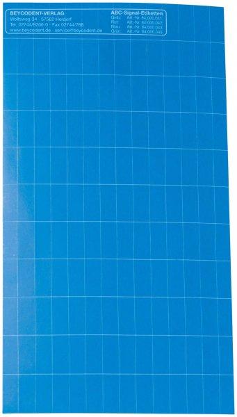 ABC-Signaletiketten - Packung 1000 Etiketten blau von Beycodent