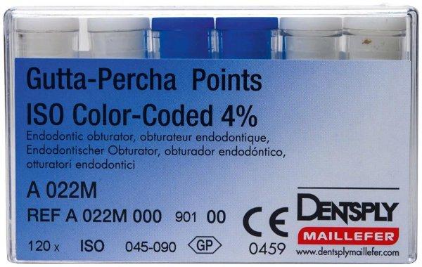 Gutta-Percha Spitzen - Sortiment 120 Stück Taper.04 ISO 045-090 von Dentsply Sirona