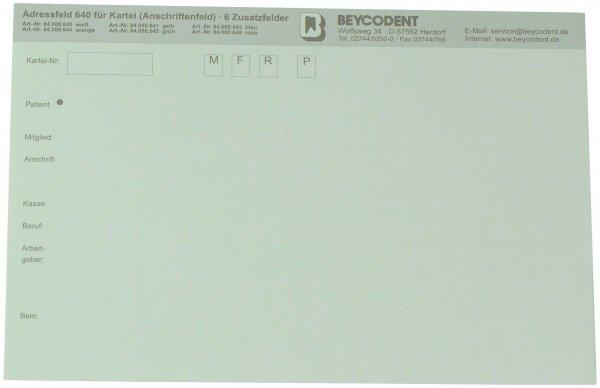 Adressfeld 640 - Packung 100 Blatt grün von Beycodent