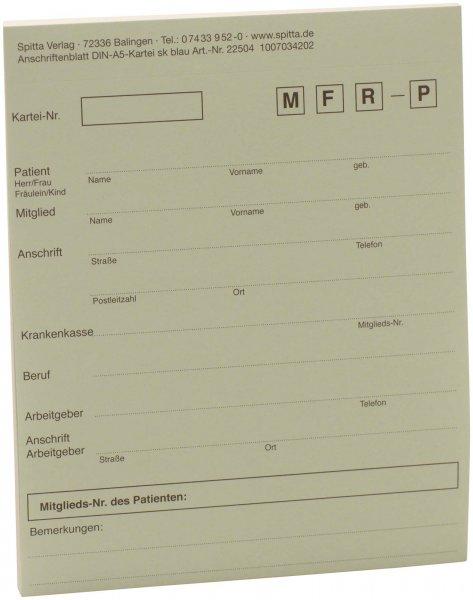 Adressaufkleber DIN A5 - Block 50 Aufkleber blau von Spitta Verlag