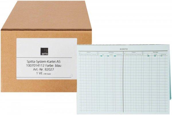 System Karteikarten für Adrema - Karton 200 Karten blau von Spitta Verlag