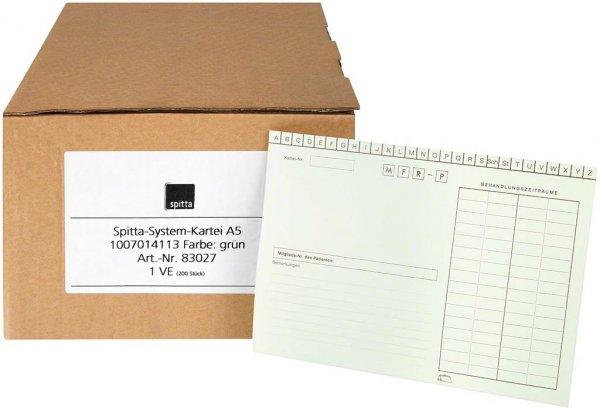 System Karteikarten für Adrema - Karton 200 Karten grün von Spitta Verlag