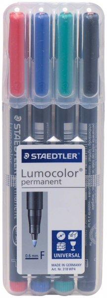 Staedtler Lumocolor® - Set 4 Faserschreiber im Etui (rot, grün, blau, schwarz) von Spitta Verlag