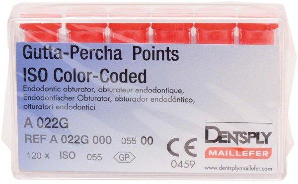 Gutta-Percha Spitzen - Packung 120 Stück Taper.02 ISO 055 von Dentsply Sirona