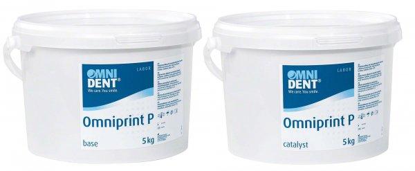 Omniprint P - Packung 5 kg Eimer base, 5 kg Eimer catalyst von OMNIDENT