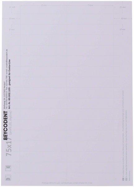 Beschriftungsbogen DIN A4 - Packung 5 x 30 Etiketten Contur-Line von Beycodent
