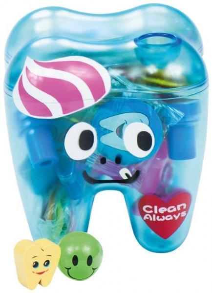Zahnbehälter gefüllt - Kit Behälter blau mit 70 Produkten von MirusMix