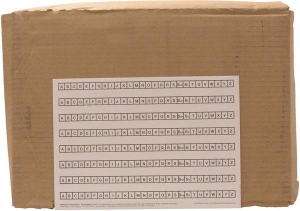 Alphabetleisten DIN A4 - Packung 10 Leisten weiß von Spitta Verlag