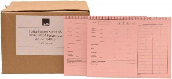 System Karteikarten A5 - Packung 200 Karten rosa von Spitta Verlag