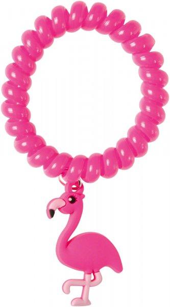 Armband Haargummi - Packung 48 Gummis Flamingos von MirusMix