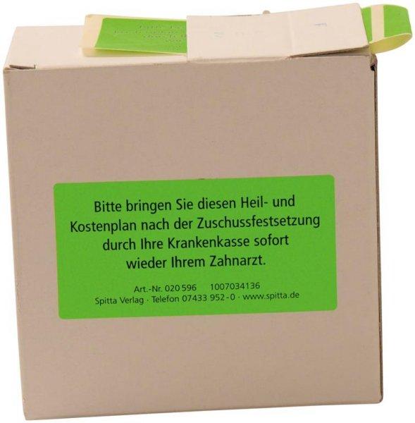 """Etiketten """"Erinnerung Heil- und Kostenplan"""" - Spenderbox 300 Etiketten von Spitta Verlag"""