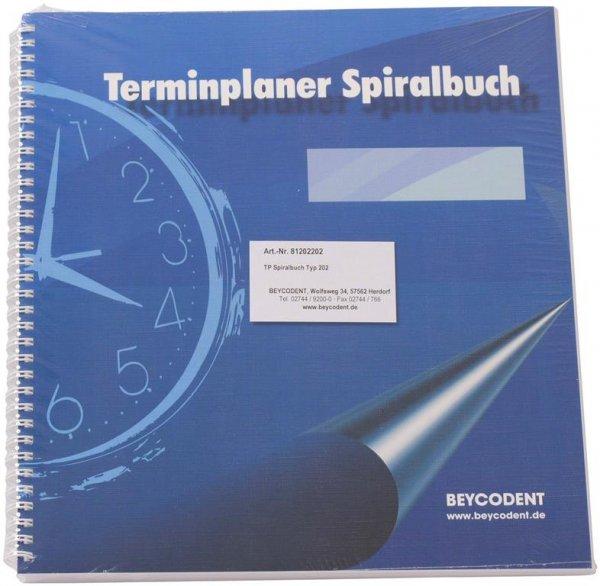Terminplaner Spiralbuch Classic-Format - Stück mit 53 Blättern Typ 202, 6-Tage-Woche, 2-spaltig, 7-2